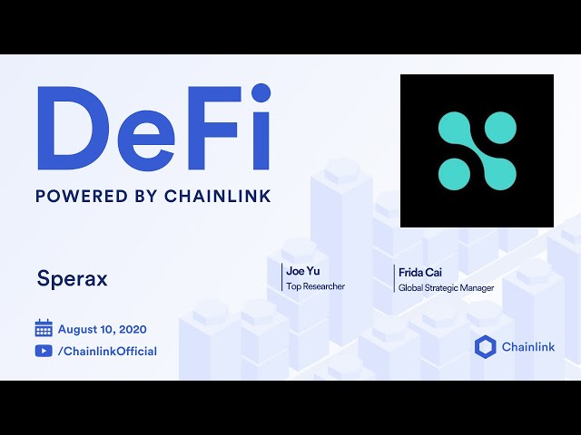 Sperax and Chainlink Live Q&A: BDLS Consensus for Accessible Decentralized Financial Services