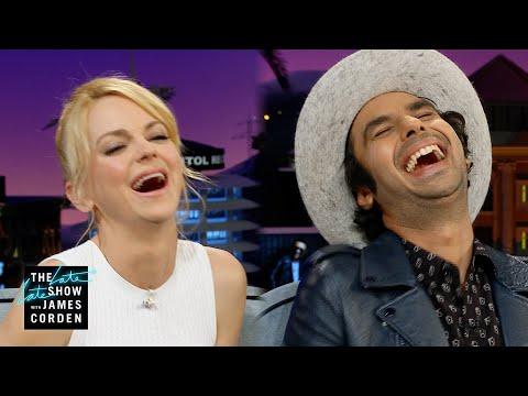 Kunal Nayyar & Anna Faris Demonstrate Their Fake Laughs
