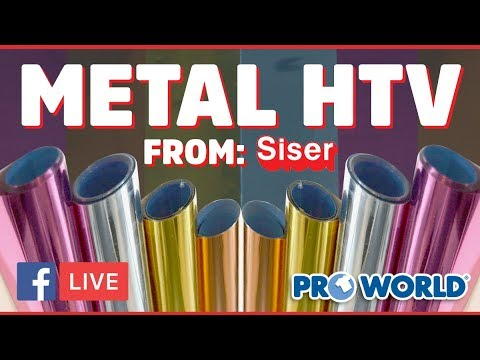 Siser Metal HTV! - (Facebook Live 4/26/18)
