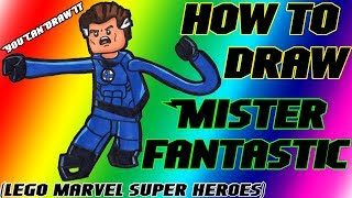 How To Draw Mister Fantastic from Lego Marvel Super Heroes ✎ YouCanDrawIt ツ 1080p HD