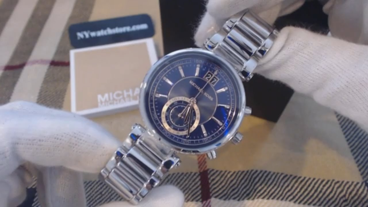 96cc78e6de88 Women s Michael Kors Sawyer Chronograph Watch MK6224 - YouTube