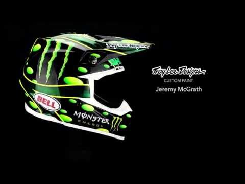 Custom Painting Jeremy McGrath's Monster Energy Helmet | Troy Lee Designs (4K)