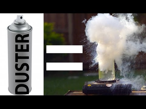Download Youtube: Computer Duster + Water = EXPLOSION!?