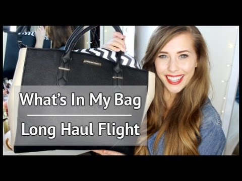 Long Haul Flight Travel Essentials - What's In My Cabin Bag   xameliax