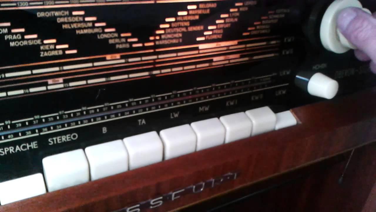 RFT Fernseh - Musikschrank Stassfurt 53 FSR 102 PST Röhrenradio ...