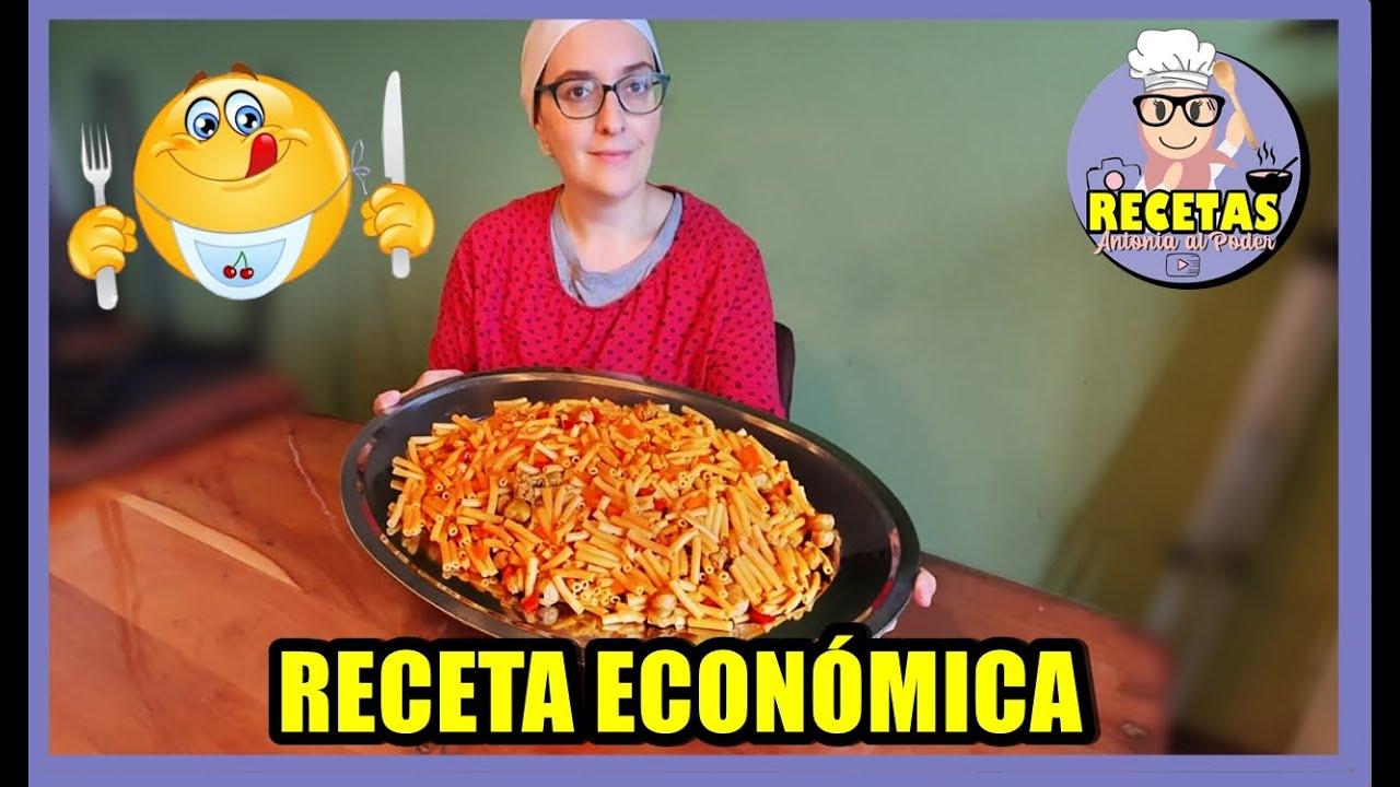 COMIDA PARA MUCHOS CON POCO   MACARRONES Con SALCHICHAS!!!