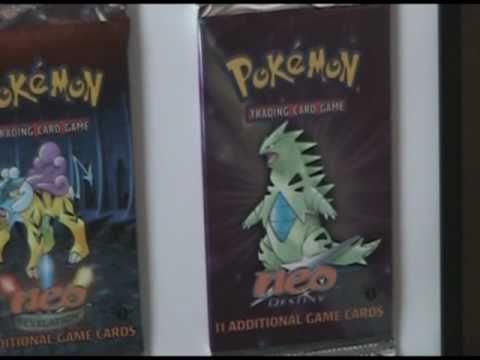 Framed 1st Ed. Pokemon Booster Pack Collection (Base Set - Neo Destiny)