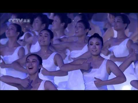 320 deaf girls dancing together with sign language—Beijing CHINA Paralympic Games(1080p HD)中国北京