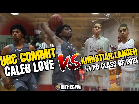 UNC Commit Caleb Love Vs #1 Point Guard IN The Nation Khristian Lander