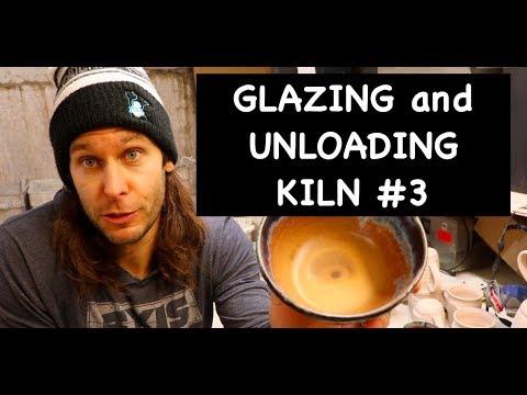 GLAZING and UNLOADING Kiln #3!!