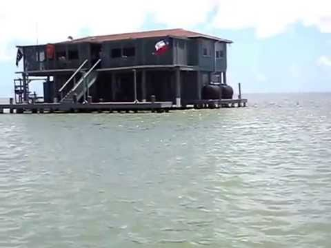 Fishing House In South Padre Island Intracoastal Waterway Mibelia In Texas Youtube