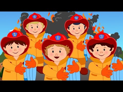 Nursery Rhymes By Kids Baby Club - Five Little Fireman | Original Songs By Little Baby Club