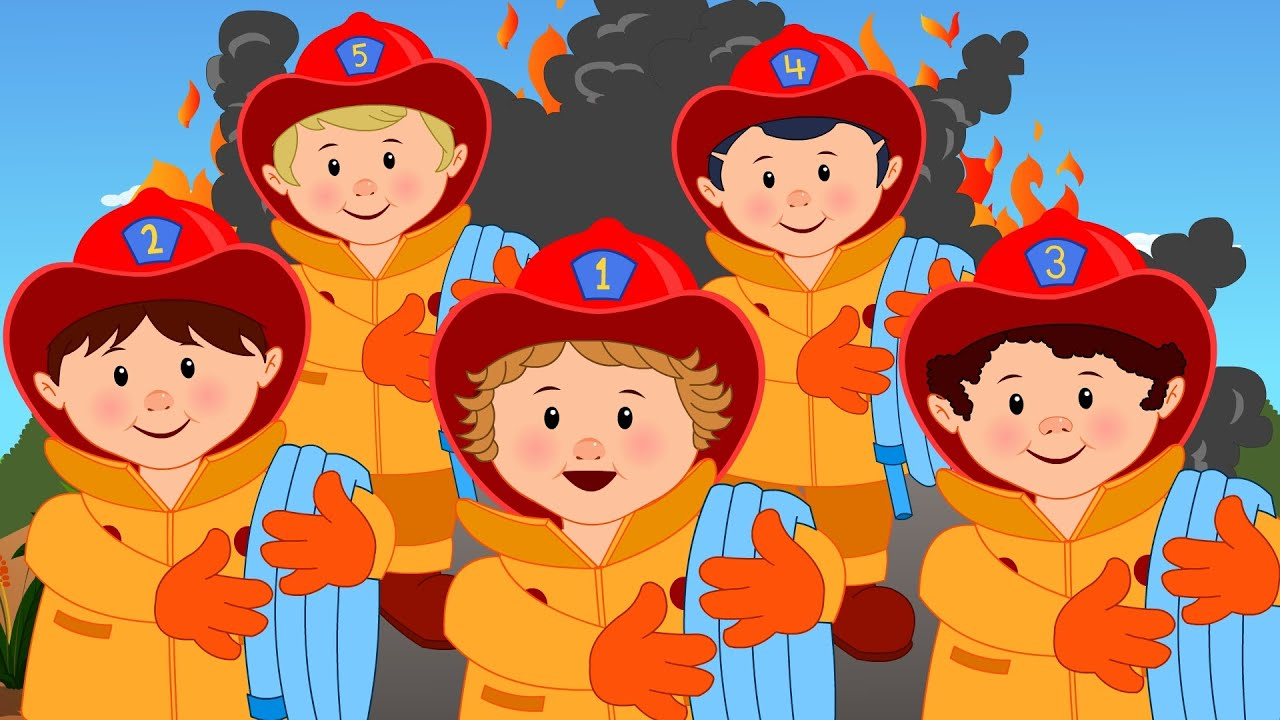 Five Little Firefighters Song