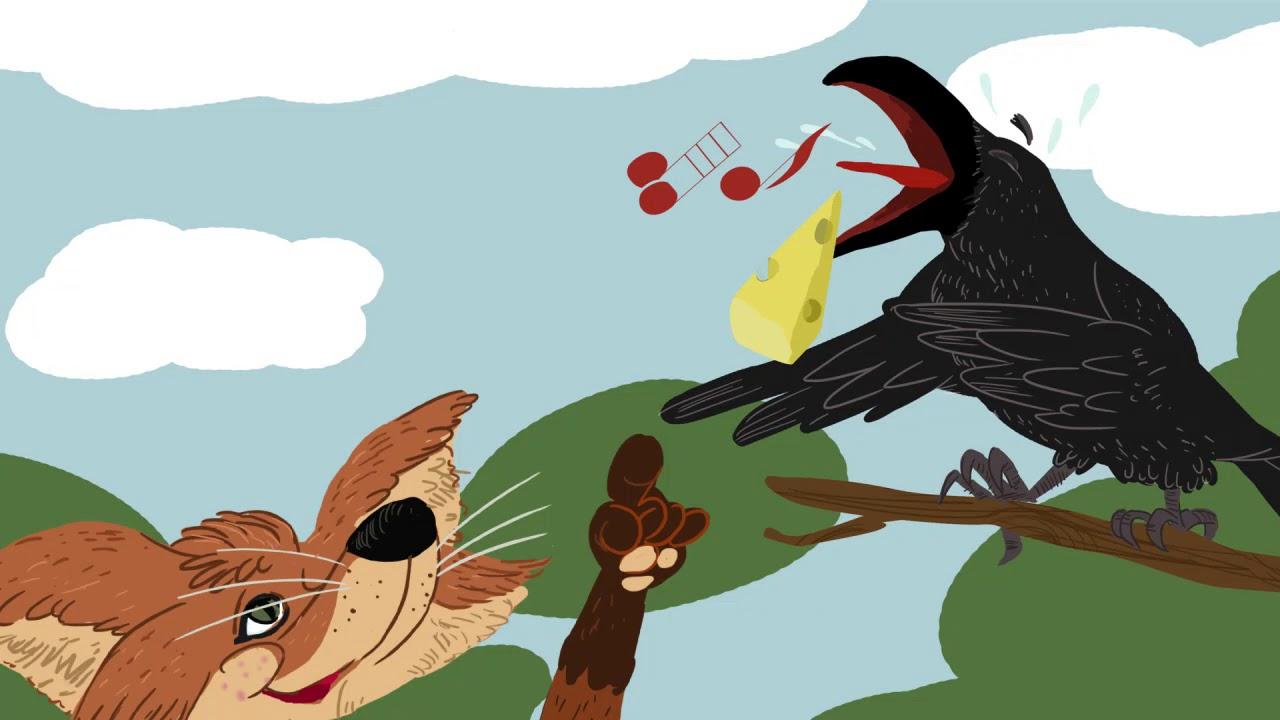 Fabula El Cuervo Y El Zorro En Frances Le Conte Du Renau Et Du