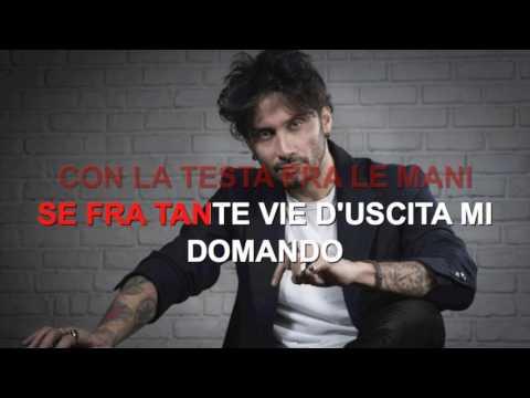 Fabrizio Moro - Portami via - Karaoke con testo