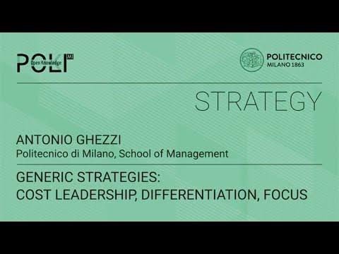 Generic strategies: cost leadership, differentiation, focus (Antonio Ghezzi)