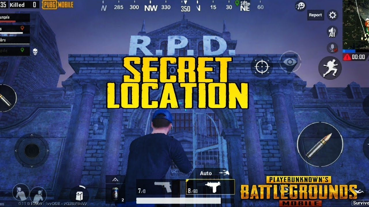Pubg Mobile Raccoon Police Secret Location|RPD LOCATION WHERE TO FIND Raccoon Police in ZOMBIE EVENT  #Smartphone #Android