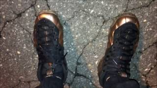 Nike Foamposite Copper Sneakers on Feet (Miami VS Wake Forest) Vlog