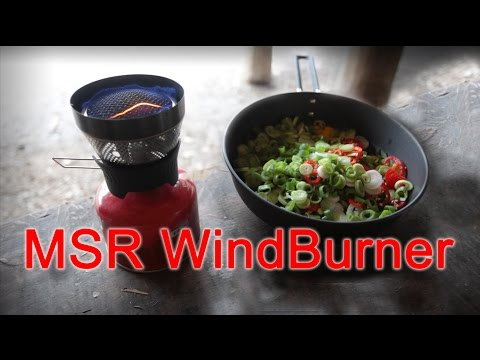 Test and review of the MSR WindBurner with skillet.