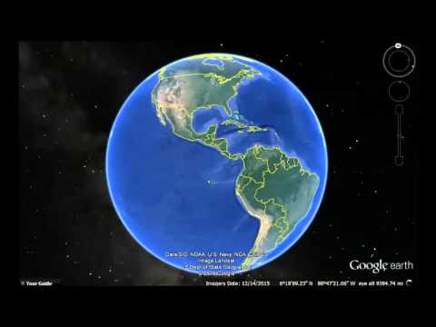 Guyana Google Earth View