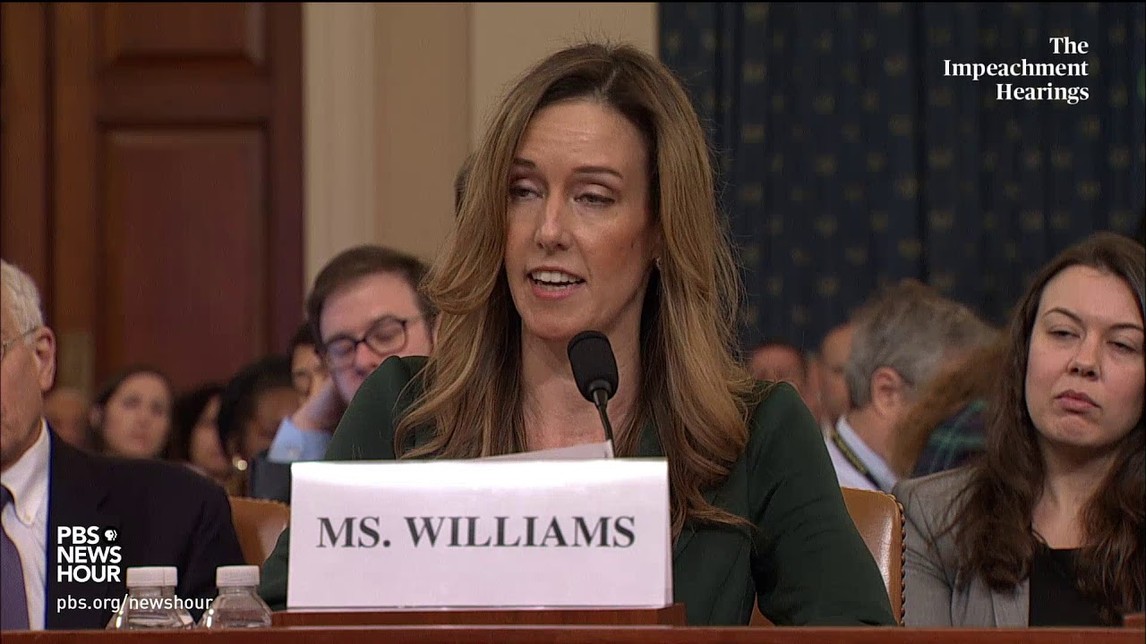 READ: Jennifer Williams' opening remarks at impeachment hearing ...