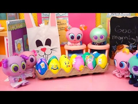 Thumbnail: Distroller Babies & Toddlers Coloring Eggs & Easter Egg Hunt at School - Toys for Kids & Baby Dolls