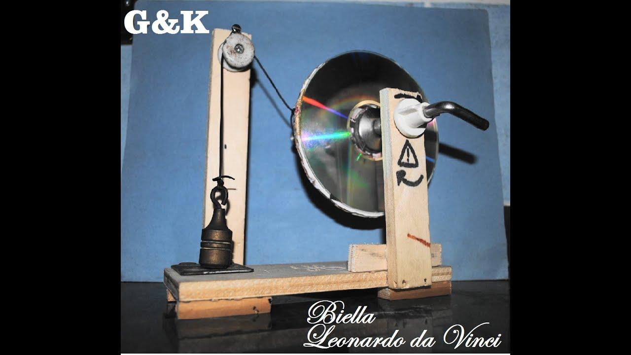 Le macchine di leonardo da vinci la biella youtube for Pressa idraulica fai da te