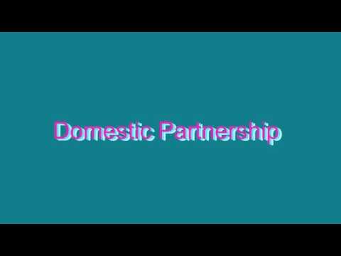 How to Pronounce Domestic Partnership
