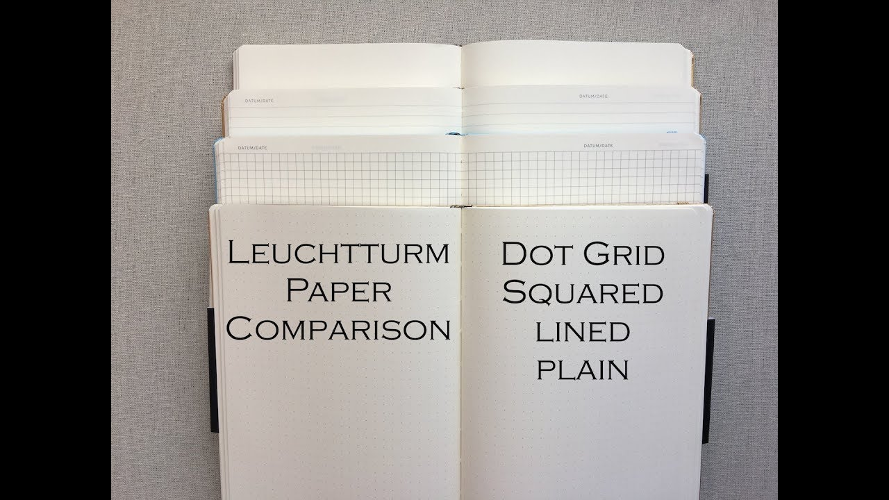 Leuchtturm Paper Comparison- { Dot Grid, Squared, Lined, Plain }
