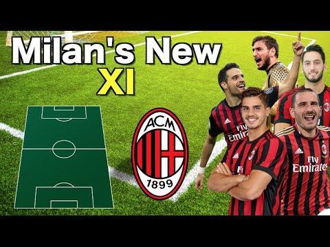 A.C Milan's NEW starting XI 2017/18 ft. Bonucci, Lucas Biglia & Andrea Silva 🔥
