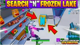 "Search the Letter ""N"" Under a Frozen Lake l Fortnite WEEK 4 Season 7 Challenge GUIDE Location"