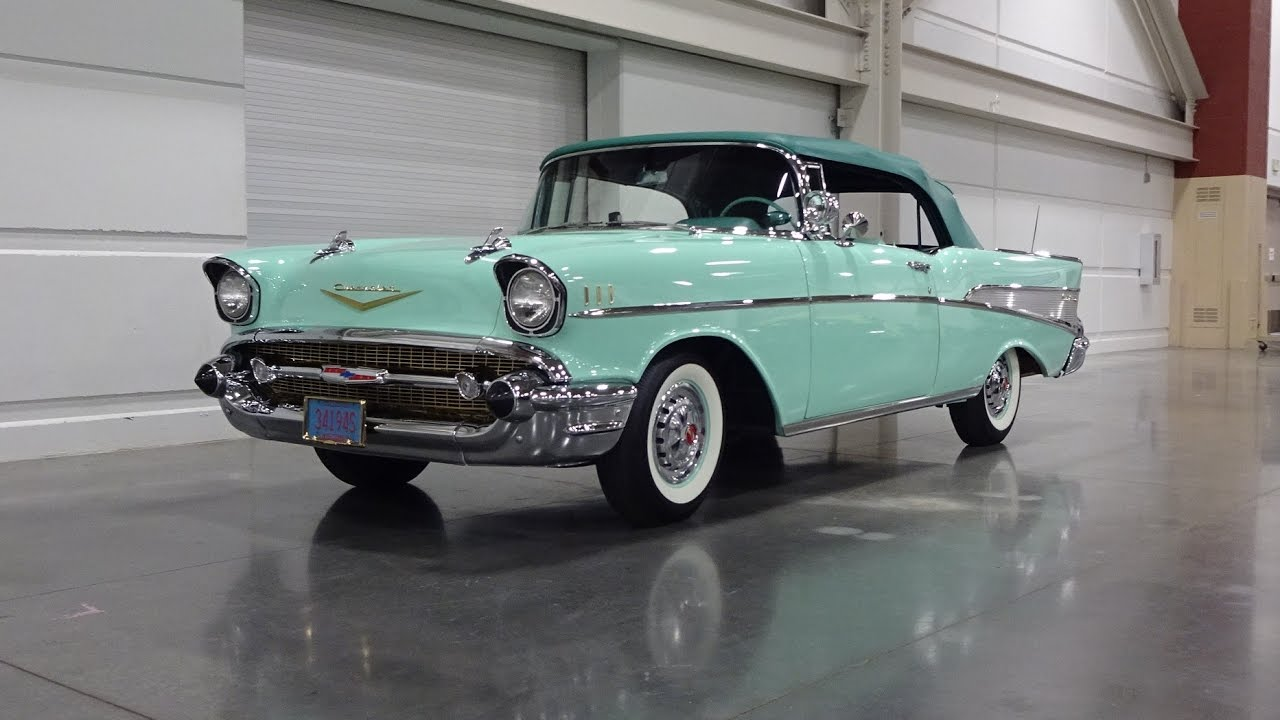 1957 Chevrolet Bel Air Convertible In Surf Green Engine Sound On Chevy My Car Story With Lou Costabile