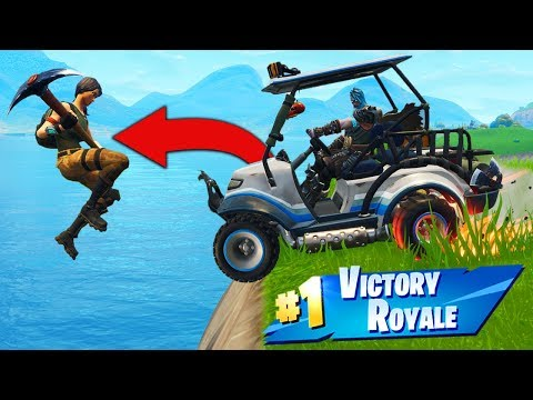 TROLLING Enemies With A GOLF KART In Fortnite Battle Royale!