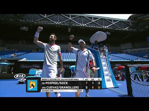 Pospisil/Sock v Cuevas/Granollers highlights (QF)   Australian Open 2016