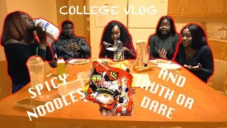 Gambar cover COLLEGE VLOG 22: TRUTH OR DARE 👀 AND 2x SPICY NOODLE CHALLENGE 🤣🔥