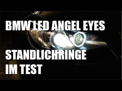 bmw led angel eyes standlichtringe im test bmw led. Black Bedroom Furniture Sets. Home Design Ideas