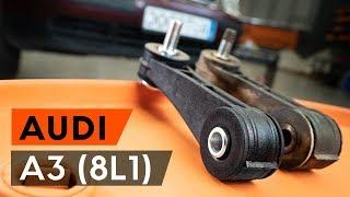 Kā nomainīt priekšējās stabilizatora atsaite AUDI A3 1 (8L1) [PAMĀCĪBA AUTODOC]