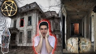 SNEAKING INTO ABANDONED WITCH CRAFT HAUNTED HOUSE ( CREEPY )