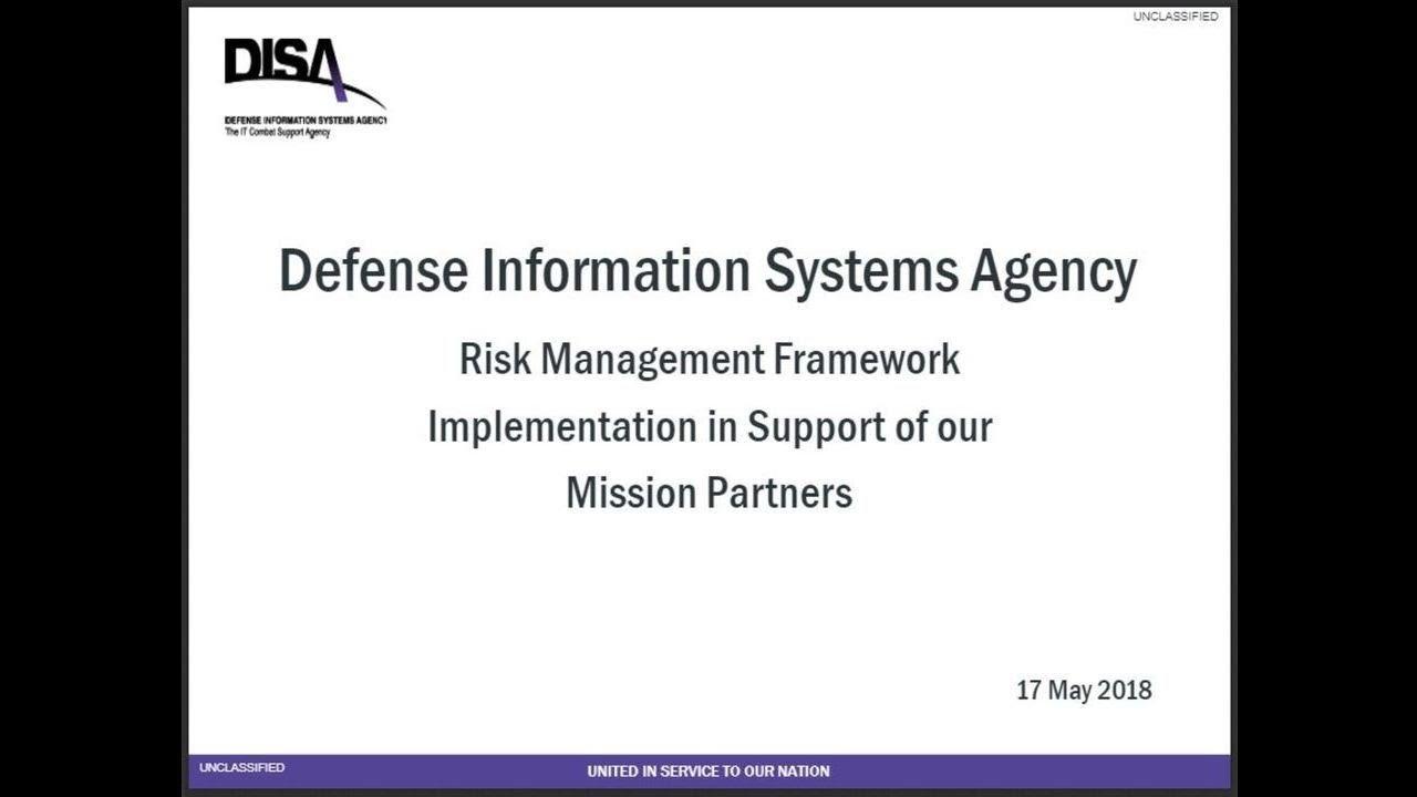 The Risk Management Framework