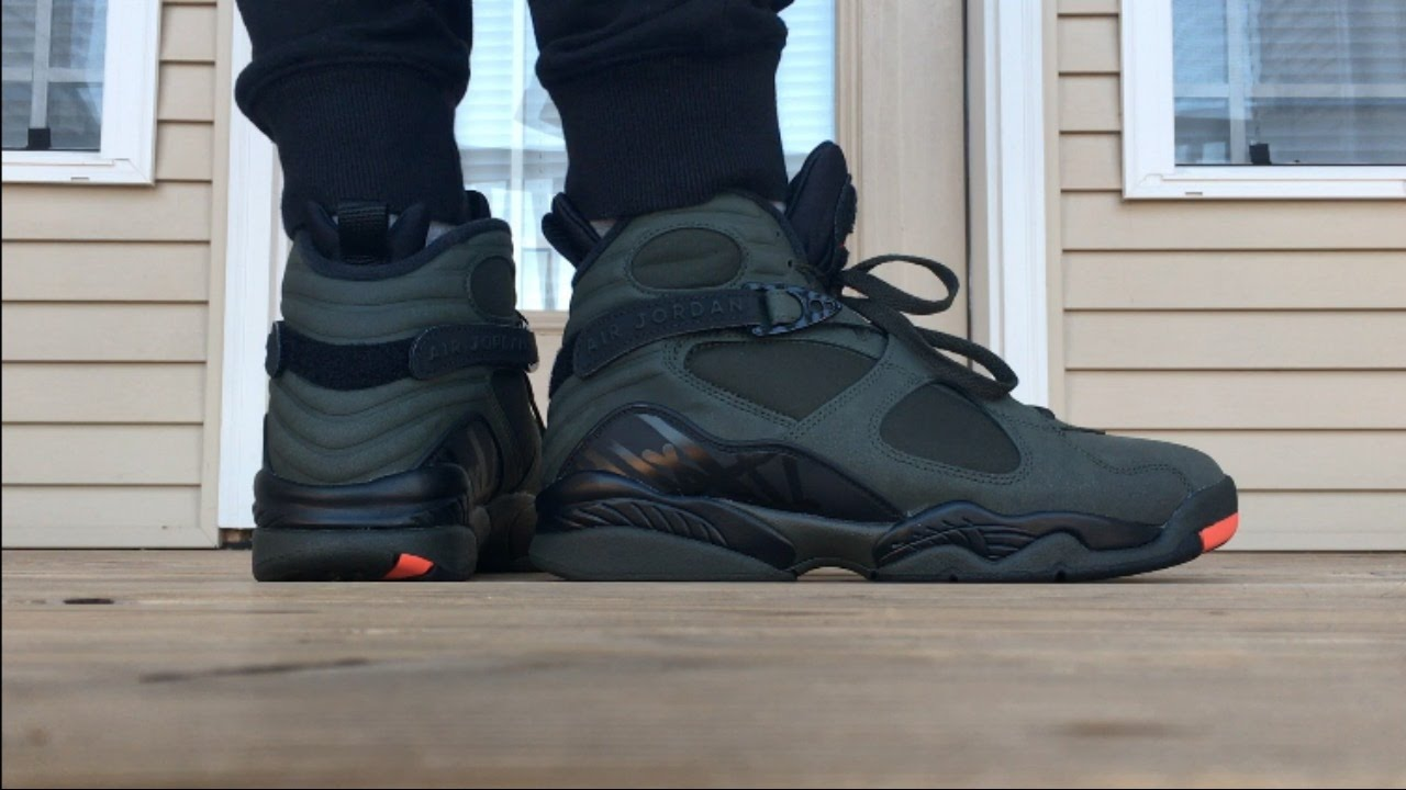 7a63891d4cd712 AIR JORDAN 8 SEQUOIA ON FOOT LOOK!!! - YouTube
