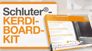 How to install the Schluter®-KERDI-BOARD-KIT