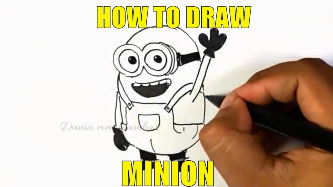 How To Draw Minions Is Easy