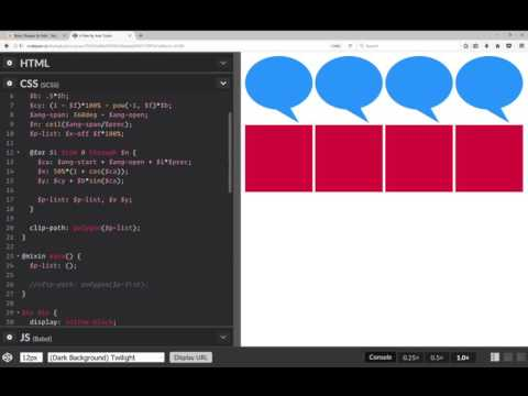 Speech bubbles & waves with pure CSS (no SVG, no JS) - YouTube