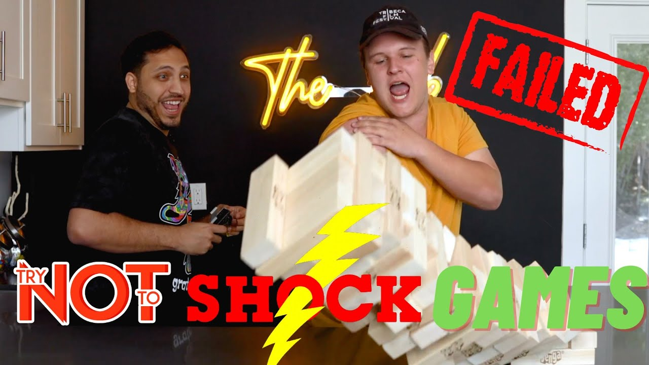 Playing Backyard Games w/ a Muscle Stimulator | Try Not To Fail Challenge