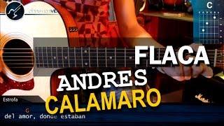 """Cómo tocar """"Flaca"""" de Andrés Calamaro en Guitarra Acústica (HD) Tutorial - Christianvib"""