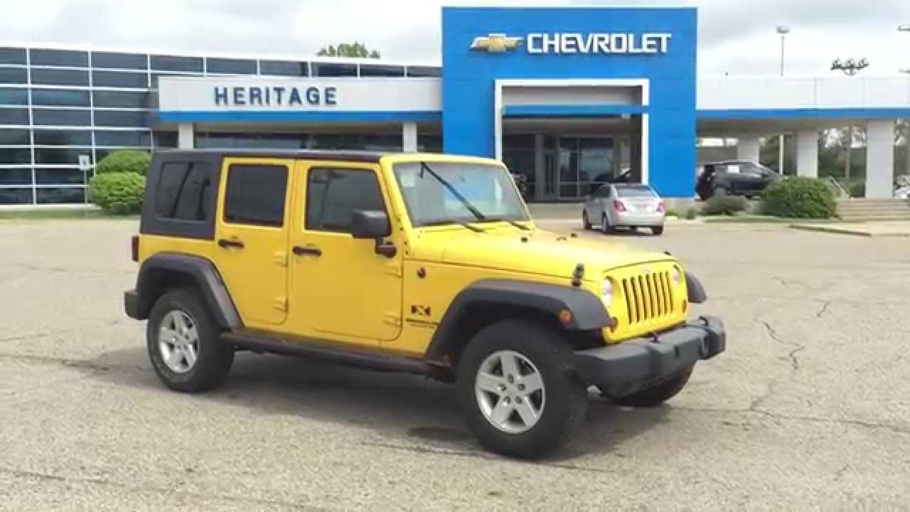 2008 Jeep Wrangler Unlimited X Detonator Yellow Hard Top Sweet Jeep