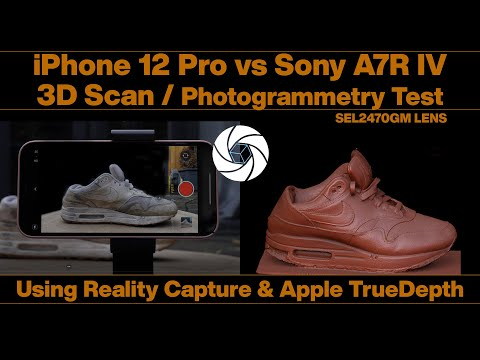 Iphone 12 Pro / Lidar vs Sony A7R IV SEL2470 GM Photogrammetry 3D Scan Test, Reality Capture, RC
