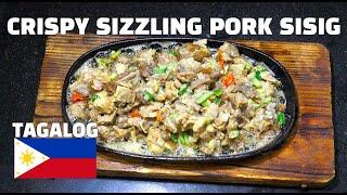 Crispy Pork Sizzling Sisig - Pinoy Recipes - Filipino Recipes - Tagalog