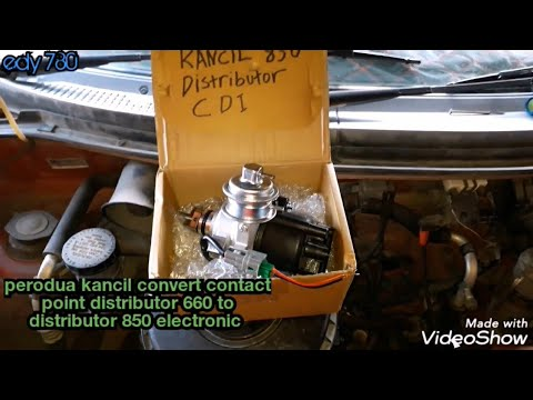 Perodua Kancil 660 Distributor Convert To Distributor Electronic 850 Youtube