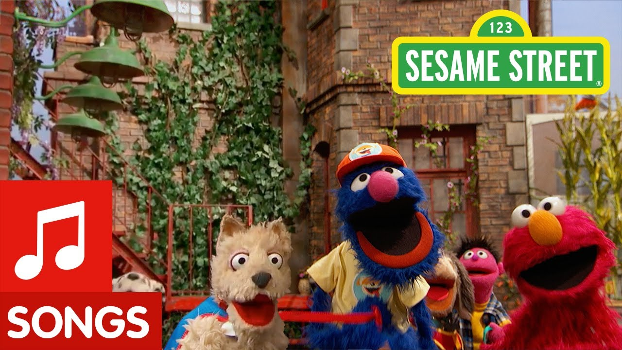 Sesame Street: Walking a Dog on a Leash with Grover and Elmo